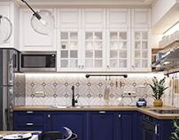 Кухня 9,2 кв.м. в скандинавском стиле