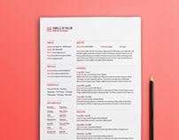 Free Simple Typographic Resume Template