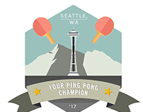 Ping Pong Champion Badge