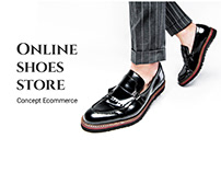 Shoes shop webdesign. Concept