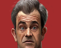 mel gibson caricature