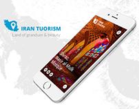 Iran Tourism UI Design