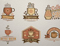 Coffee items and labels