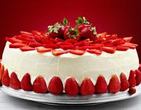Strawberry cake.Summer cake