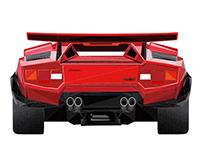 Lamborghini Countach - Low Poly