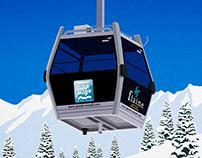 Flaine Ski Resort Poster