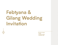 Febtyana & Gilang Wedding Invitation