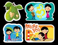 Viber Stickers (love in kerala)
