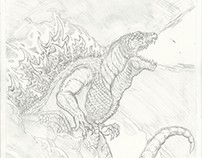 """Gojira"" comic pages"