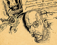 Illustrations to novel about Nikolai Gogol [1].
