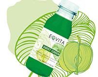Packaging smoothie jus Eqvita restaurant Novak Djokovic