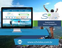 Web Design | Website S2 Vistos (Vistos e Passaportes)