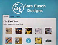 Personal Rebrand: Sara Eusch Designs Website