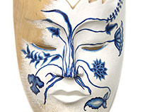 Artistic wooden mask collection