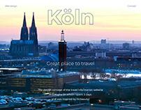 Design concept for information website about traveling