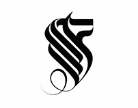A series of calligraphic logos