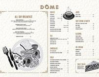 Dome Cafe Singapore- Menu Design