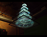 Video Projection Chandelier