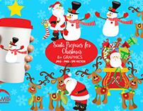 FREE Santa Prepares For Christmas Graphics