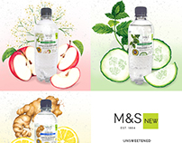 watercolour illustrations for M&S waters.