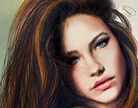 Watercolors Barbara Palvin