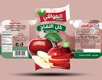 juice Apple Rose Pomegranate Packaging branding