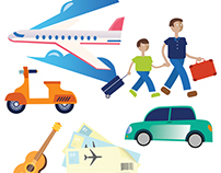 BING Travel Summit Illustration Assets