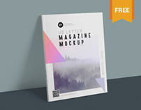 Two Free US Letter Size Magazine Mockups PSD