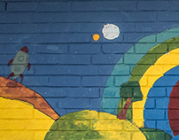 Mural Astronauta Chía
