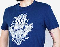 "serigraphie tee-shirt ""crâne psyché"""