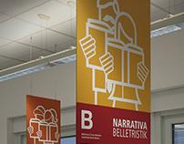 Biblioteca civica Bolzano - Segnaletica