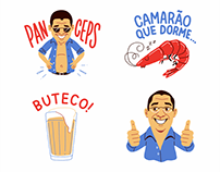 Google Allo Stickers — Zeca Pagodinho
