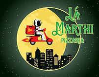 LA MARTHI PIZZARIA Criação de Logotipo e Mascote