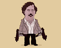 Vector Art Photoshop - Pablo Escobar