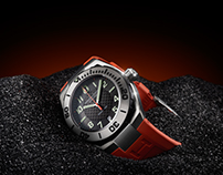 HAMILTON Khaki Navy Sub Auto Divers Watch