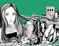 ÉRIU Goddess of Ireland | Digital Illustration