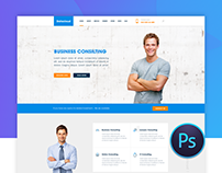 Datacloud Home Page | Free PSD download