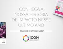 Artes p/ divulgação Relatório de Atividades 2017 (ICOM)
