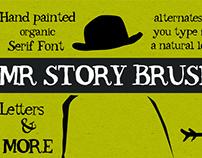 Mr. Story Brush - Serif Font