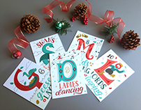 12 Days of Christmas Postcards