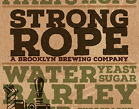 BRANDING POSTER \\ strong rope brewery