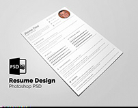 Resume Design A4 Psd Layered