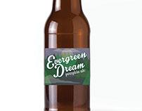 Evergreen Dream Craft Beer Label