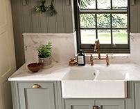 Contemporary & Classic -Style Kitchen CGI's
