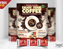 Coffee Shop Flyer Template PSD