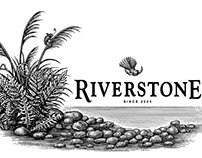 Riverstone Wine Label Illustrated by Steven Noble