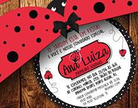 Identidade Visual e Convite para a festa da Ana Luiza.
