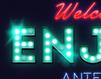 Antenah neon lights sign