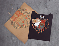 T-Shirt Design Concept With Armenian Rug Elements