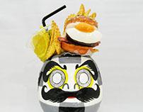 bacon egg burger daruma/ベーコンエッグバーガーだるま